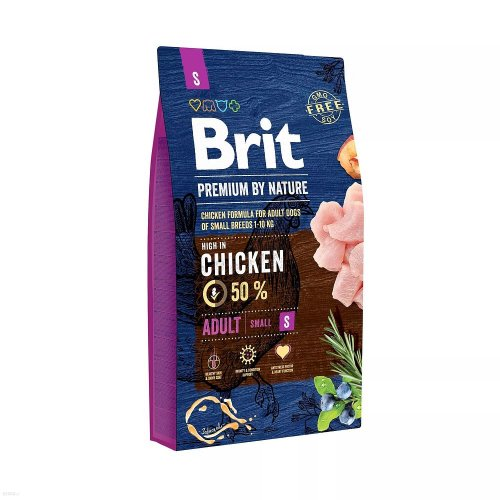 brit premium by nature adult s small 3kg dla małych ras